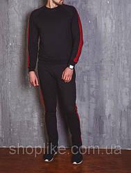 Мужской спортивный костюм с лампасами черный / красный / зеленый / серый