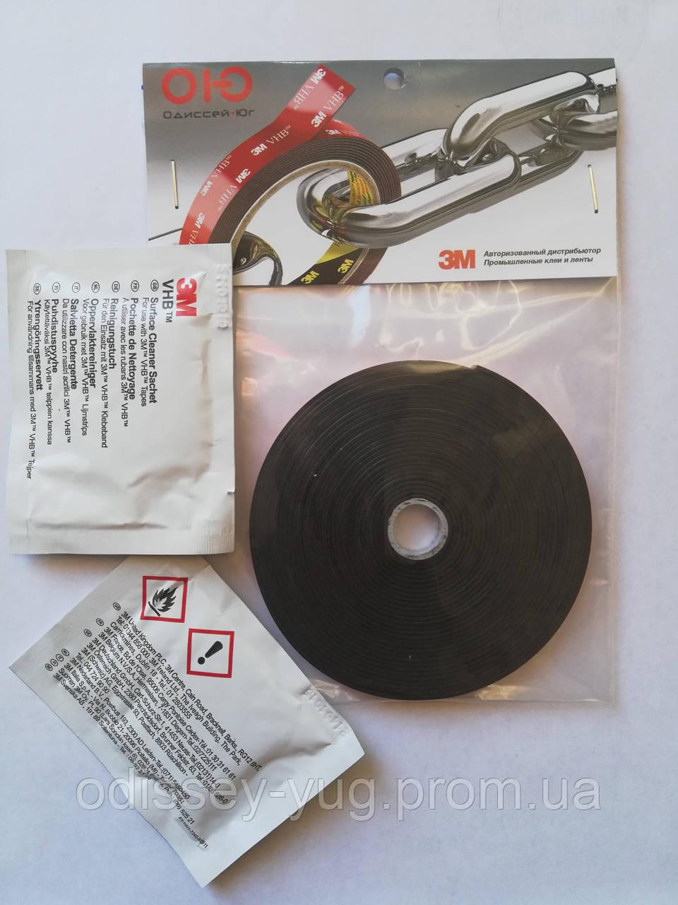 Набор 3М для монтажа ветровиков (скотч, салфетки), фото 1