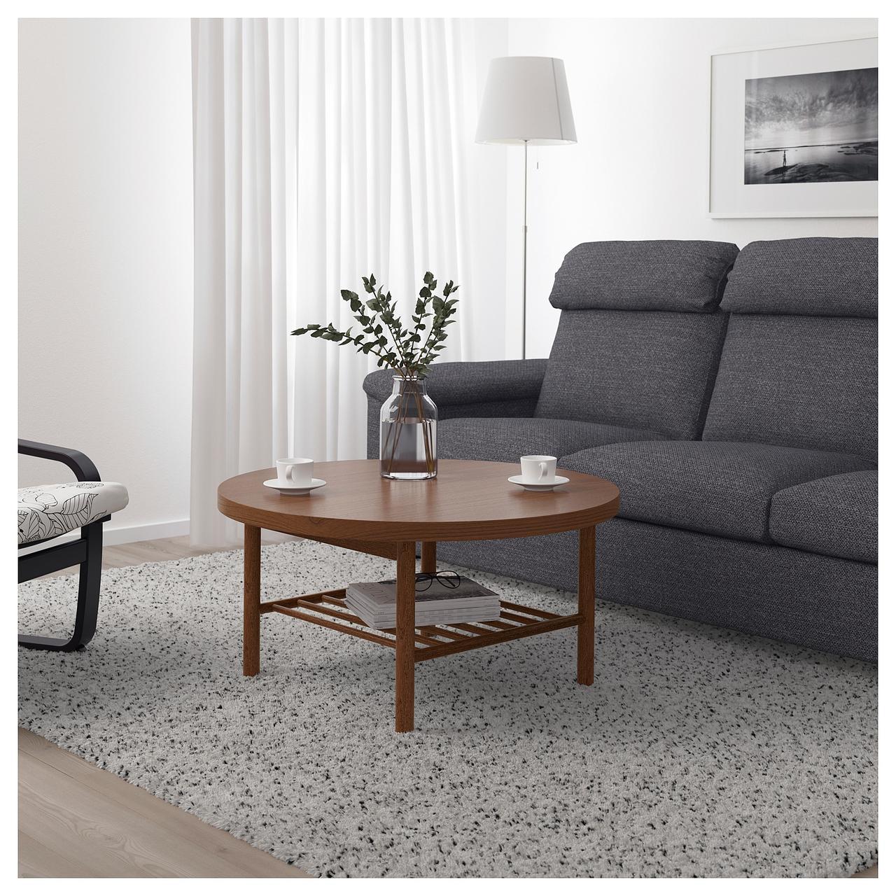 Журнальный столик IKEA LISTERBY 90 см коричневый 303.514.40