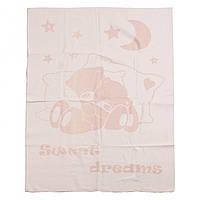 Детское хлопковое одеяло-плед 100х140 Vladi Соні бежевый