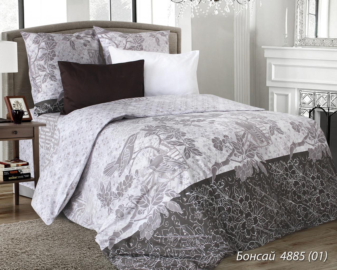 Комплект постельного белья евро БОНСАЙ (нав. 70*70)