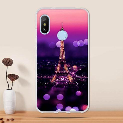 Бампер TPU чехол з картинкою для Xiaomi Mi A2 / Mi 6x Париж вночі