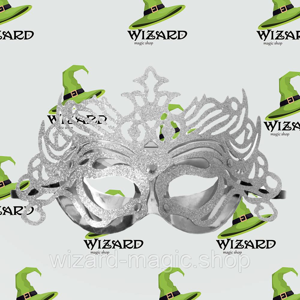 Венецианская маска Изабелла серебро
