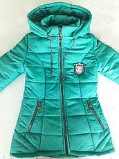 Красива підліткова дитяча демісезонна куртка з капюшоном р. 134-152, фото 3