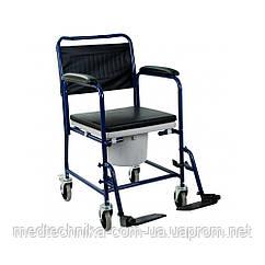 Кресло-каталка с санитарным оснащением H032B
