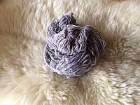 Пряжа для вязания шерстяная Серый светлый