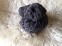 Пряжа для вязания шерстяная Серый темный