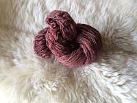 Пряжа для вязания шерстяная Малиновый
