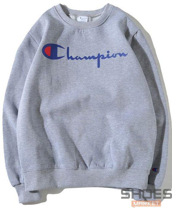 Свитшот Champion Grey (ориг.бирка) - Интернет-магазин обуви и одежды в Киеве