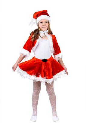 """Детский карнавальный меховой костюм """"Санта"""" для девочки, фото 2"""