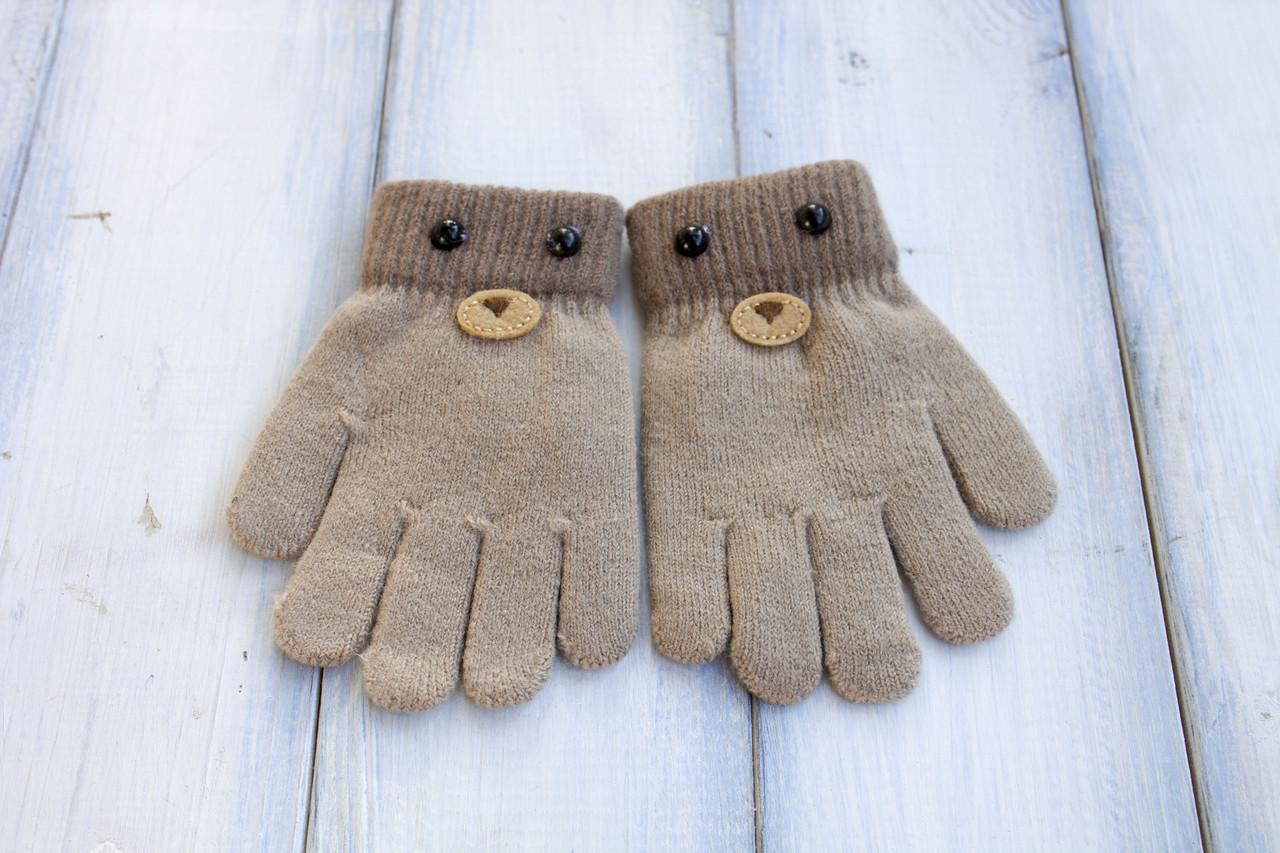 Детские вязаные перчатки D115-5