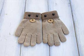 Детские вязаные перчатки D115-5, фото 2