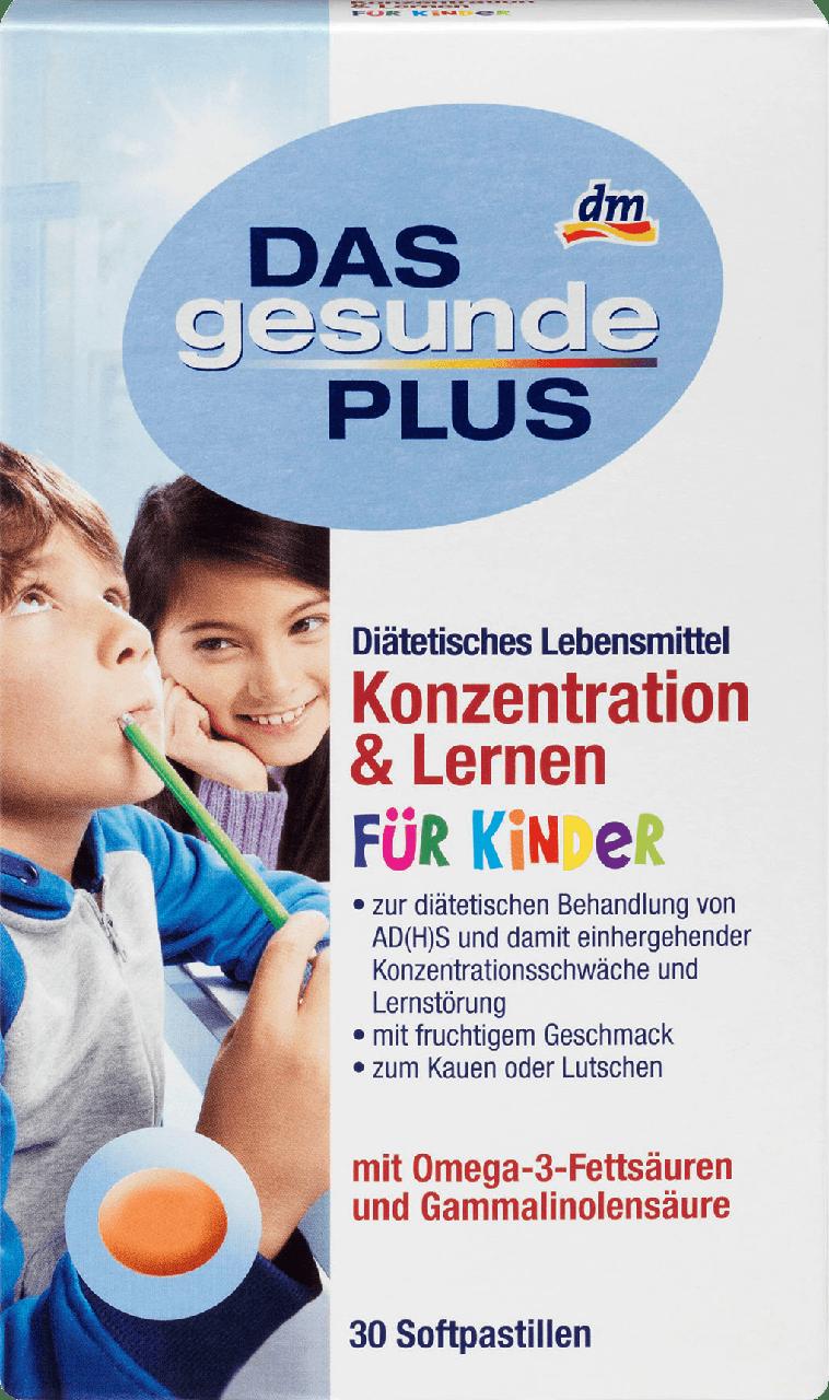 Витамины для детей DAS Gesunde PLUS Konzentration & Lernen mit Omega-3, 30 шт