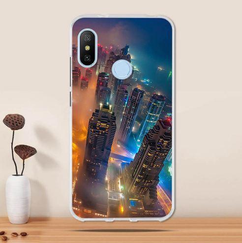 Силиконовый чехол накладка с принтом для Xiaomi Mi A2 / Mi 6x Город