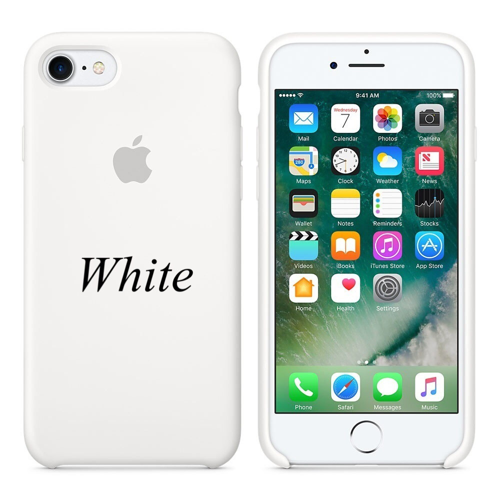"Apple silicon case iPhone 7/ iPhone 8 ""White"""