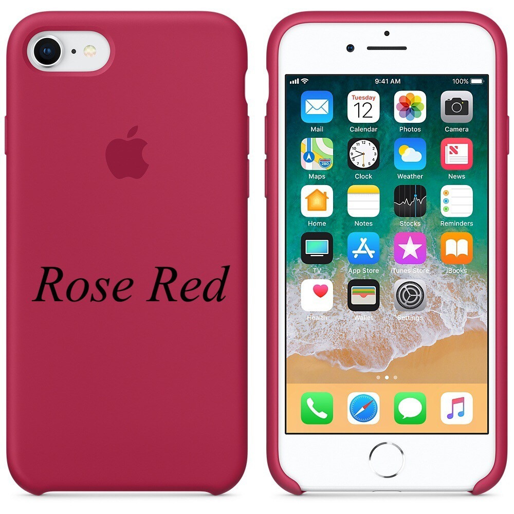 Apple silicon case iphone 7 Rose RED