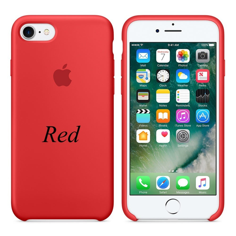 "Apple silicon case iPhone 7 ""Red"""
