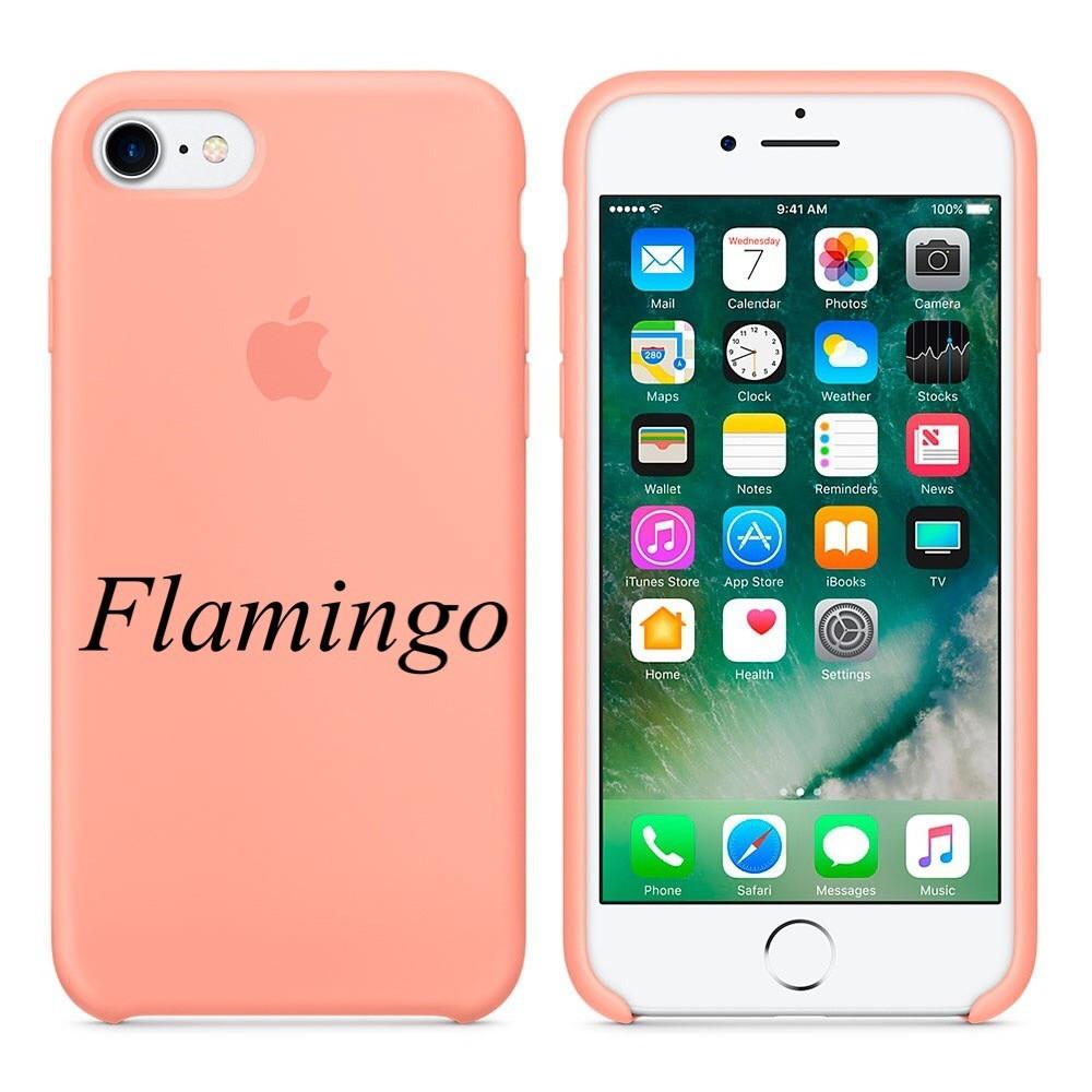 "Apple silicon case iPhone 7 ""Flamingo"""