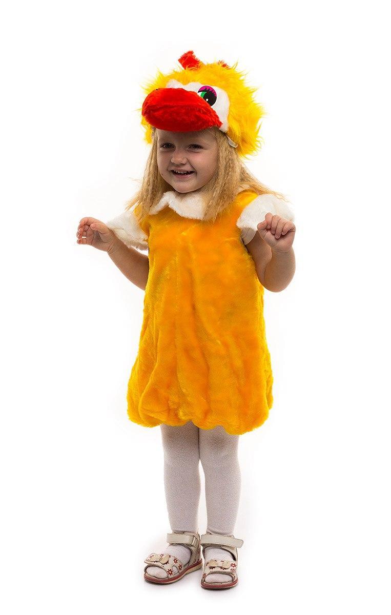 """Детский карнавальный меховой костюм """"Утенок"""" для малышей"""