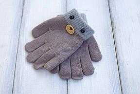 Детские вязаные перчатки D115-4, фото 3