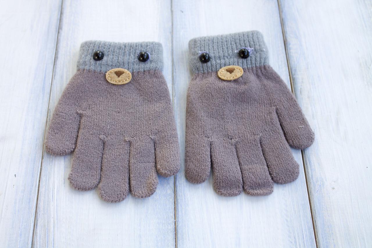 Детские вязаные перчатки D115-4