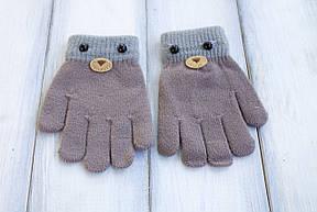 Детские вязаные перчатки D115-4, фото 2