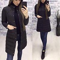 Осеняя женская куртка удлиненная синтепон 120