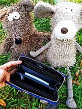 Женский кошелек с принтом «свинки» синий, фото 3