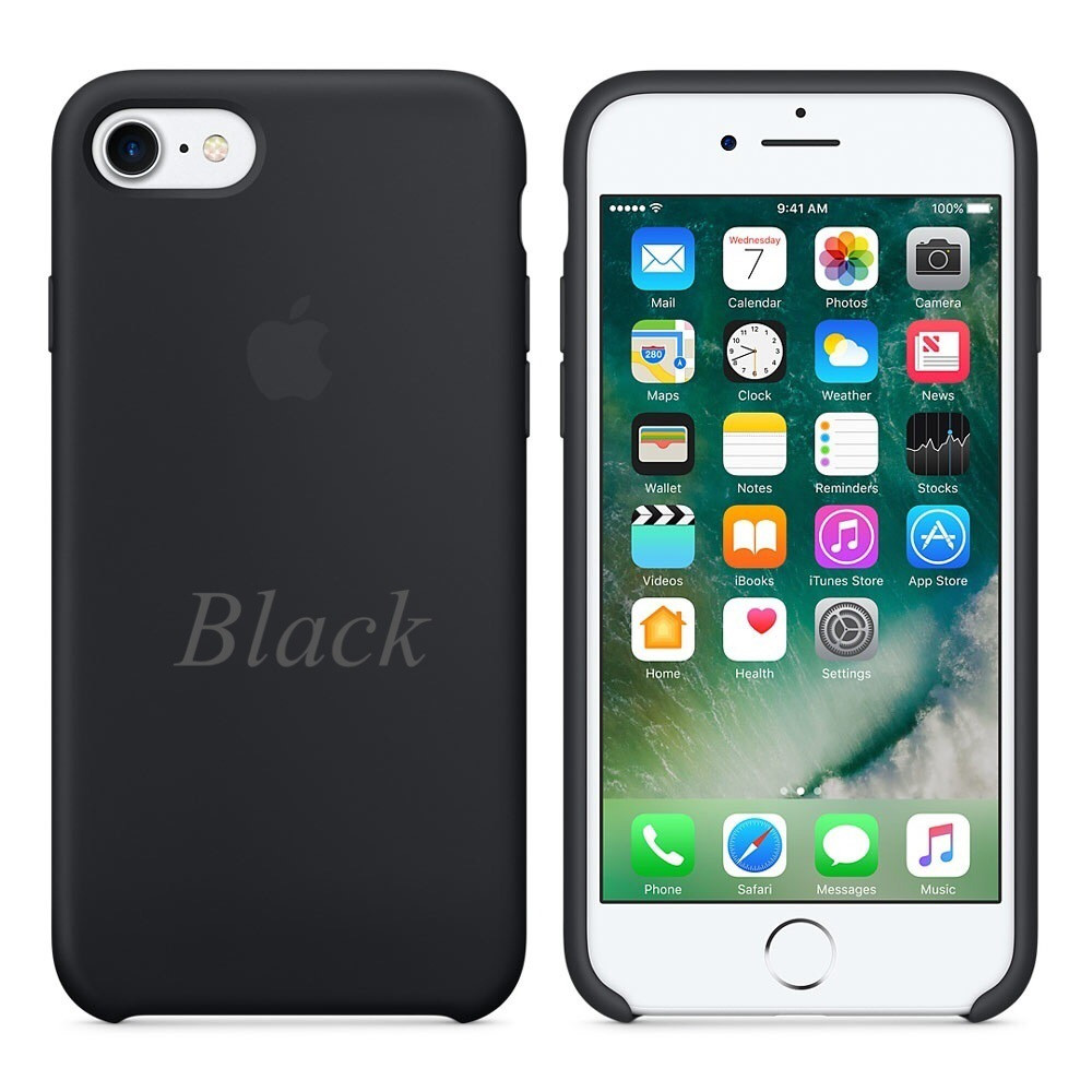 "Apple silicon case iPhone 7 ""Black"""