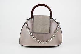 Женская сумка с цепочкой цвета бронза 8099.