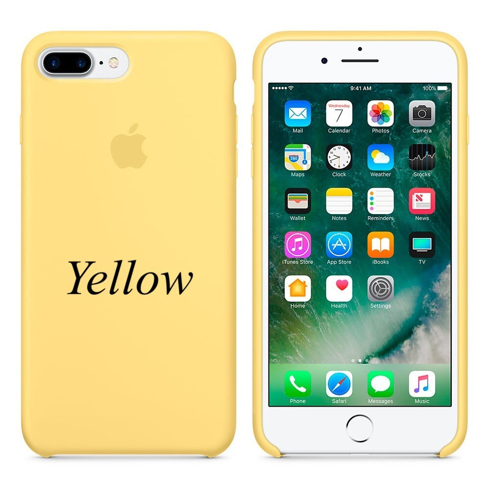 "Apple silicon case iPhone 7 Plus/iPhone 8 Plus "" Yellow"""