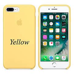 """Apple silicon case 7 Plus  """" Yellow"""""""