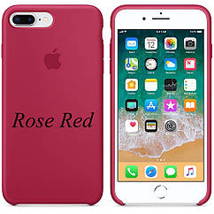 Apple silicon case iPhone 7 Plus/iPhone 8 Plus Rose RED