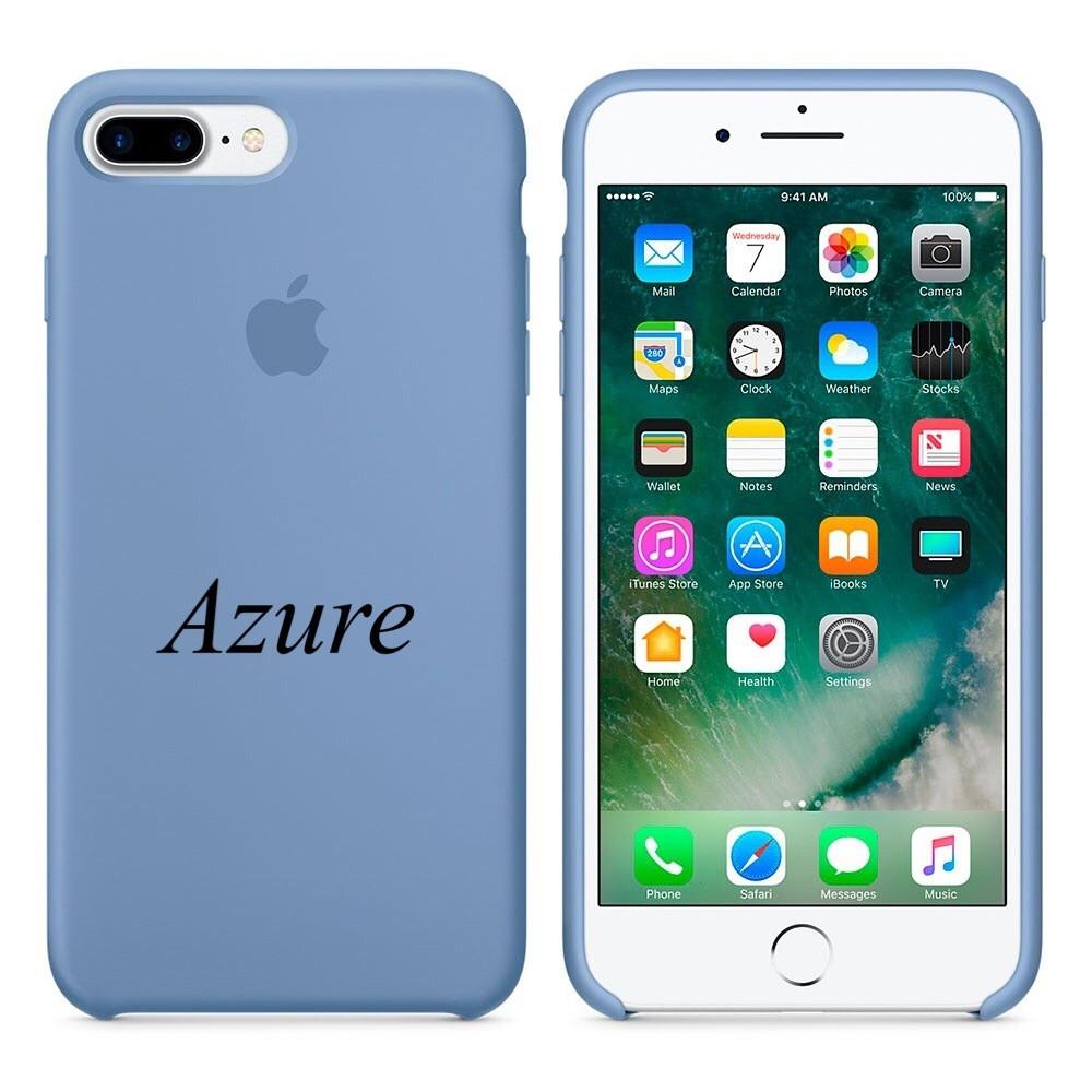 """Apple silicon case 7 Plus  """" Azure"""""""