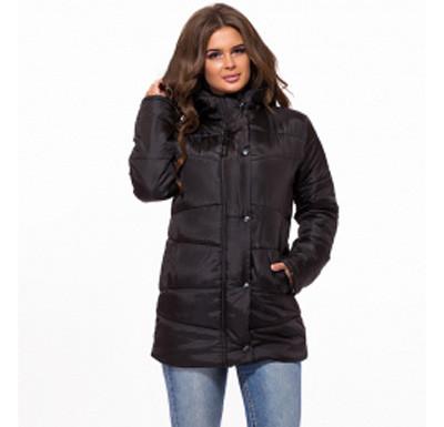 4e8551b08be3 Удлиненная женская куртка демисезонная черный 824735, цена 625 грн ...