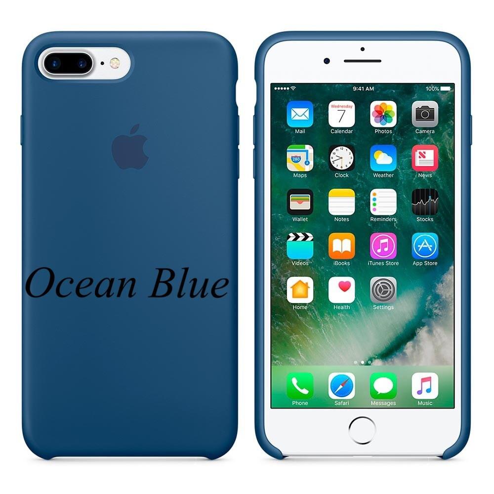 """Apple silicon case iPhone 7 Plus/iPhone 8 Plus """" Ocean Blue"""""""