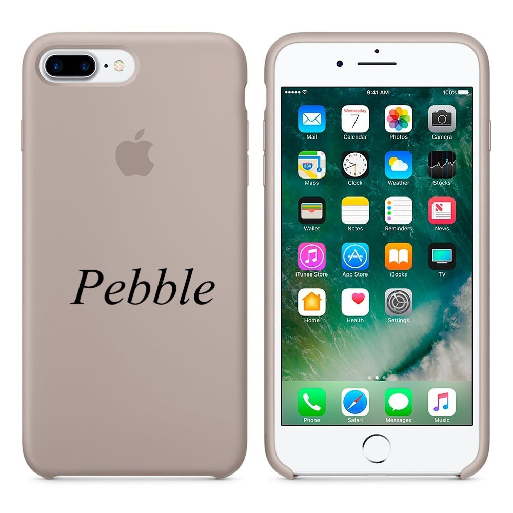 "Apple silicon case iPhone 7 Plus/iPhone 8 Plus "" Pebble"""