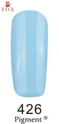 Гель-лак F.O.X. 6 мл Pigment 426 нежно голубой, эмаль