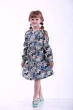 Детское платье для девочек, 8VALERI р. 92 см Серо-синее