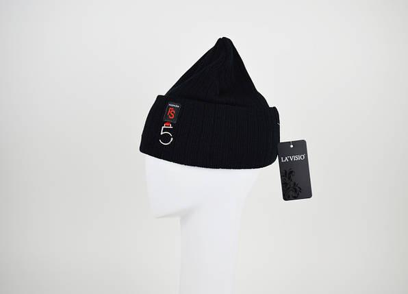 Шапка классическая черная La'Visio 611, фото 2