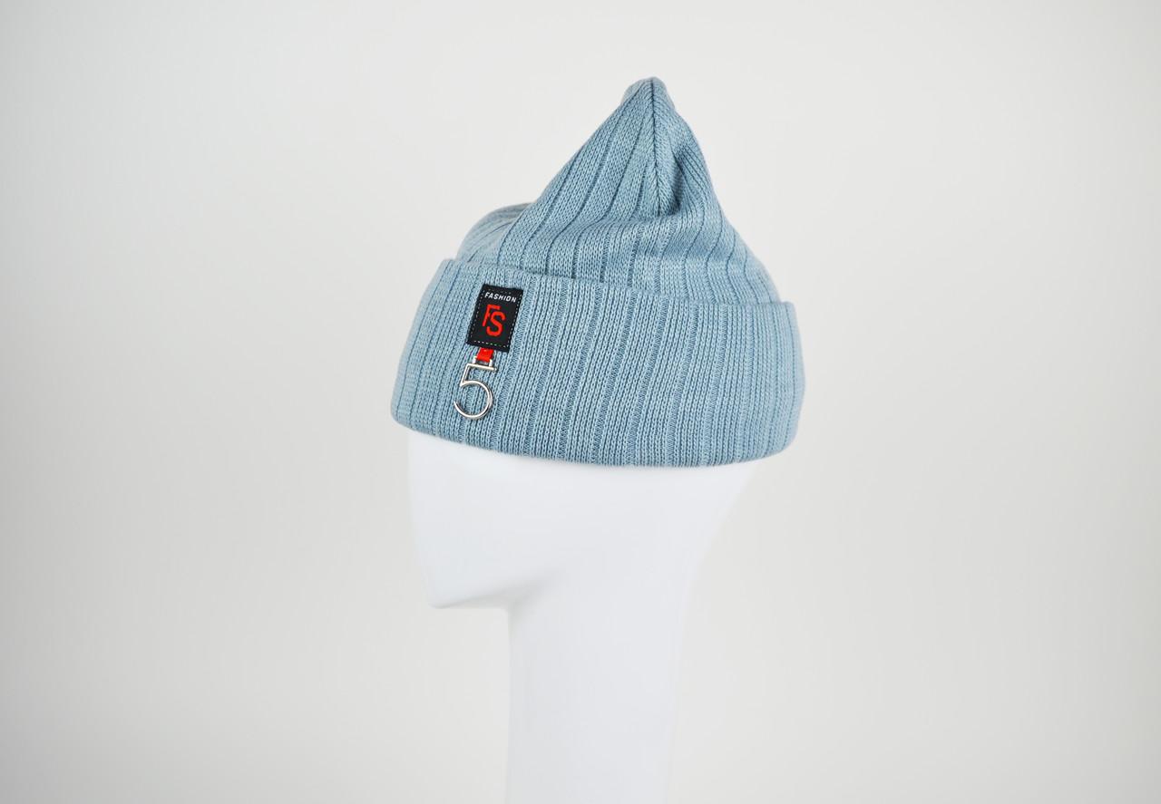 Шапка классическая голубая La'Visio 611