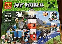 Конструктор Lele 33017 Minecraft Майнкрафт Маяк 3 в 1 553 деталей, фото 1