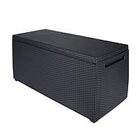 Ящик для внешнего хранения Keter Capri Storage Box 305 л, антрацит, фото 1