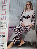 Женская теплая пижама №4060 (махра с флисом)