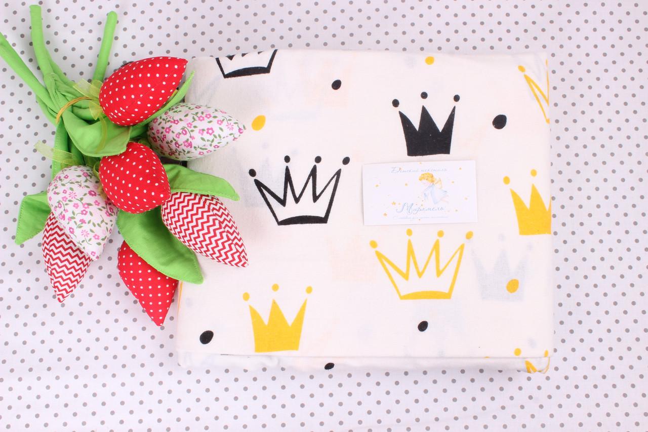 Фланелевая пеленка Короны на белом