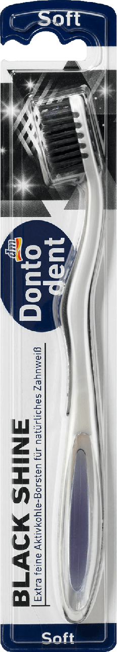 Зубная щетка Dontodent Black Shine, soft