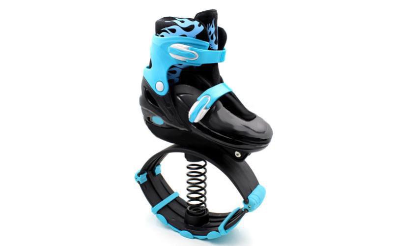 🔝 Ботинки кенго джамп, Kangoo Jumps, кроссовки на пружинах, цвет - голубой, размер 39-42   🎁%🚚