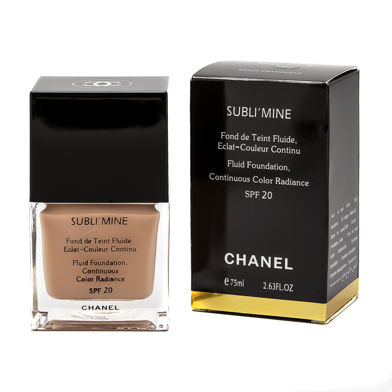 Тональный крем CHANEL Subli'Mine Fluid Foundation Continuous Color Radiance SPF20 75 мл