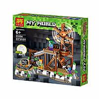 """Конструктор Lele 33204 Minecraft """"Серебряный рудник"""" (аналог Lego Майнкрафт), 337 дет"""