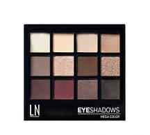 "Палетка теней для глаз ""LN Professional"" Mega Color Eyeshadows Kit тон 12-1"